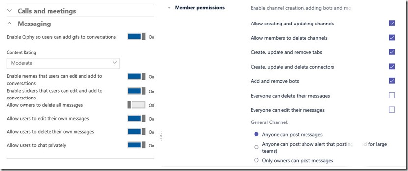 Microsoft Teams tenant permissions versus team permissions
