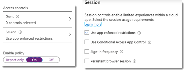 Conditional access policy settings for Site Sensitivity part 2