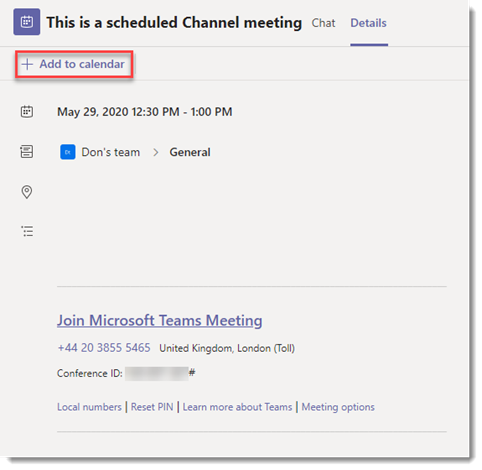 Scheduling Channel meetings